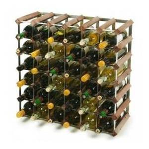 Vinreol i mørk eg (42 flasker)