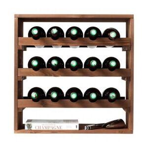 Vinreol lago mørkbejset fyrretræ til 15 flasker