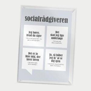 Dialægt- Kort med kuvert - Socialrådgiveren - A7