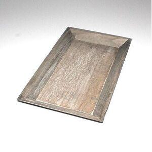 Firkantet træfad natur 36 cm x 21 cm