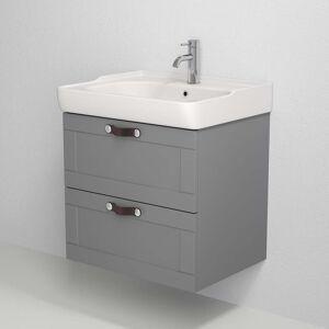 BDA Living Badmøbelsæt New York, Mat Grå - Mat grå / 100 x 46 x 55 cm
