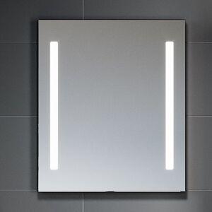 BDA Living LED Spejl Nordfeld med Bevægelsessensor, 60-120 cm - 3.7 x 120 x 70 cm / Satin
