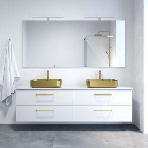 BDA Living Vienna 200 cm White & Gold komplet Badmøbelsæt