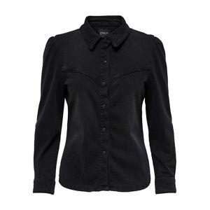 ONLY Wendy Life l/s West Denim Shirt i Black