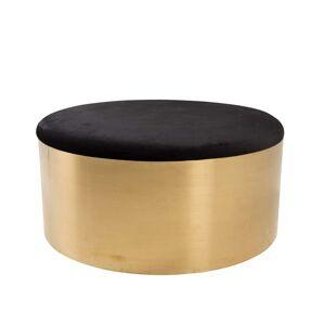 Venture Design Puff Ø75 cm i Guld og Sort Velour