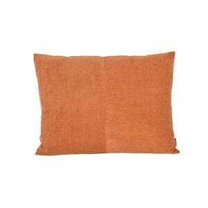 Compliments Fløjl Pyntepude i Orange - 45x60 cm.