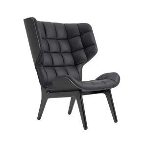 NORR11   Mammoth Chair - Læder Sortbejdset eg Vintage læder (Anthracite)