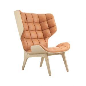NORR11   Mammoth Chair - Læder Røget eg Vintage læder (Dark Brown)