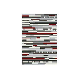 MyHomeMøbler Valencia Luvtæppe 160x230 Multi Red/white
