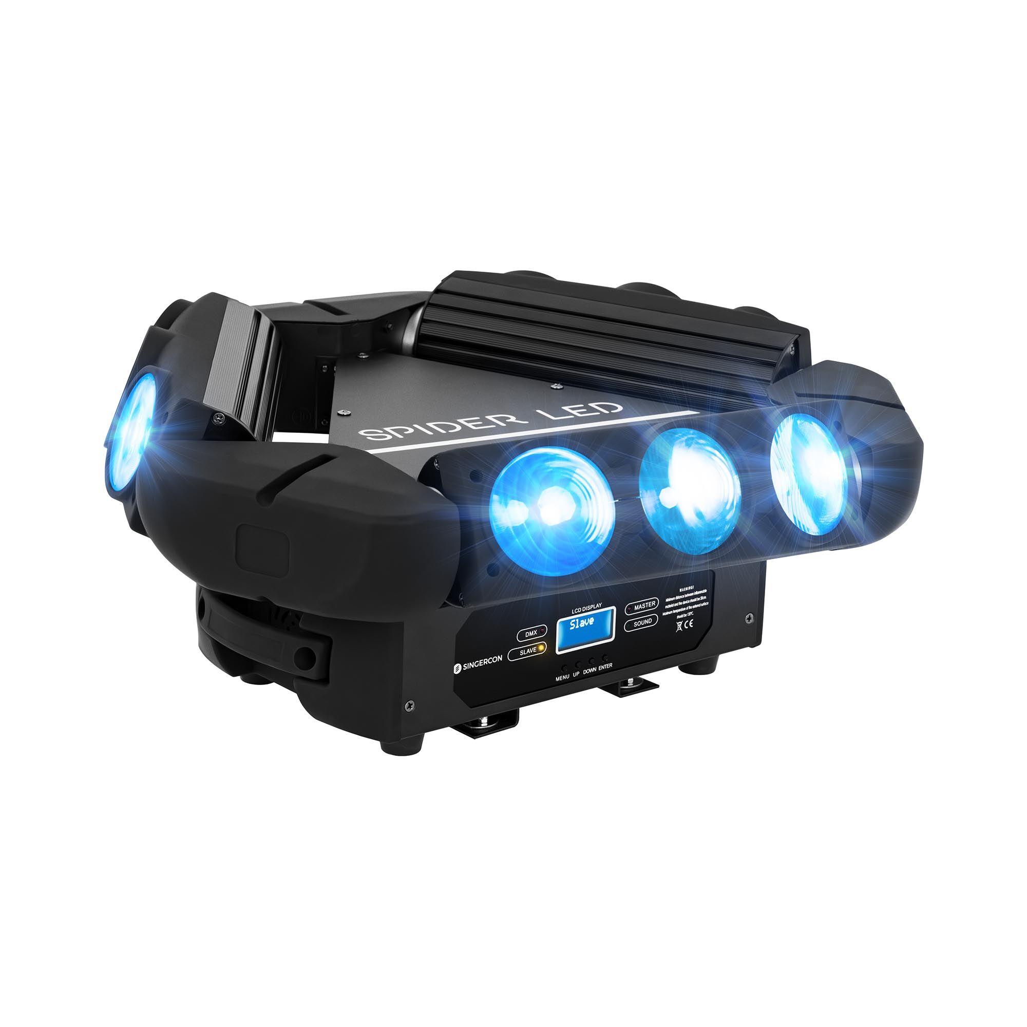 Singercon Moving head - 9 LED - 100 W CON.LMH-9/10/RGB