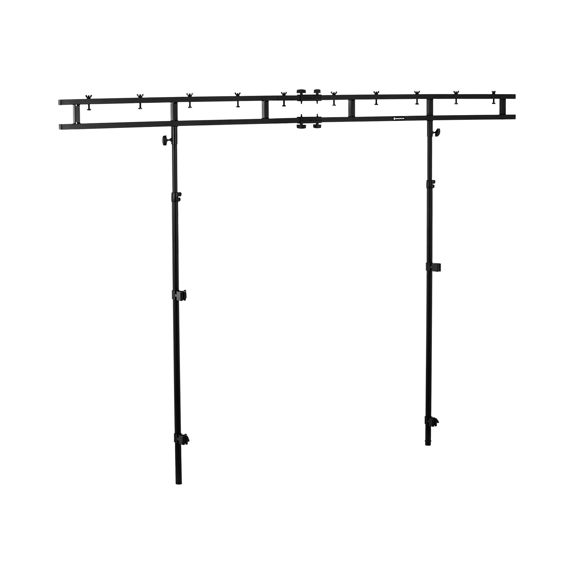 Singercon Lysstativ til DJ-bord - 60 kg - 1,55 til 2,70 m CON.LS2700E1.04