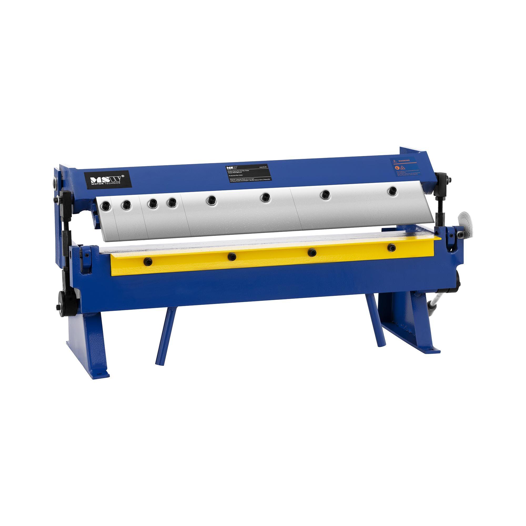 MSW Pladebukker - 610 mm - 0 til 135° - håndkraft MSW-PBR-610