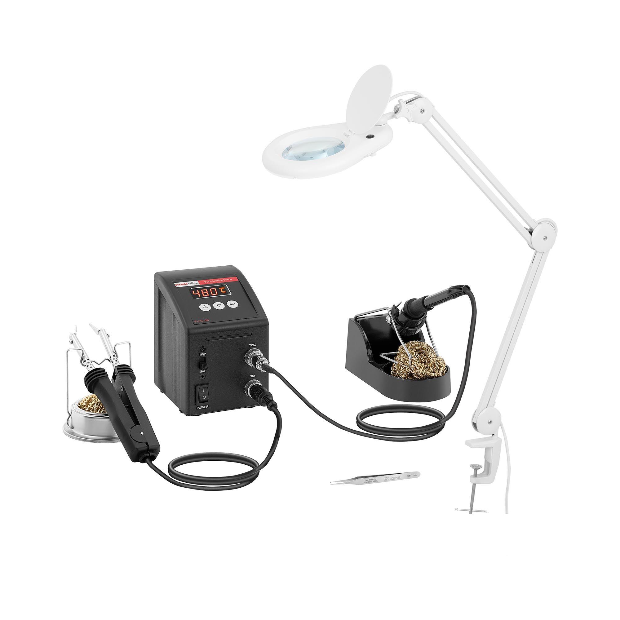 Stamos Soldering Loddestation - SMD - digital - 80 W - LED S-LS-48