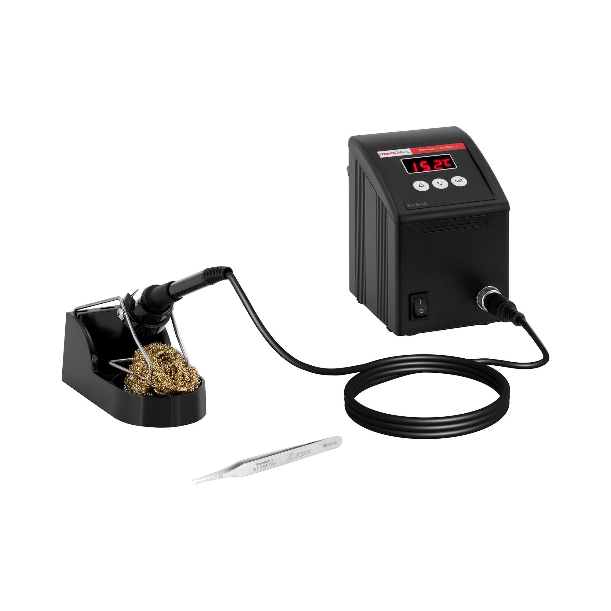 Stamos Soldering Loddestation - digital - 100 W - LED S-LS-50