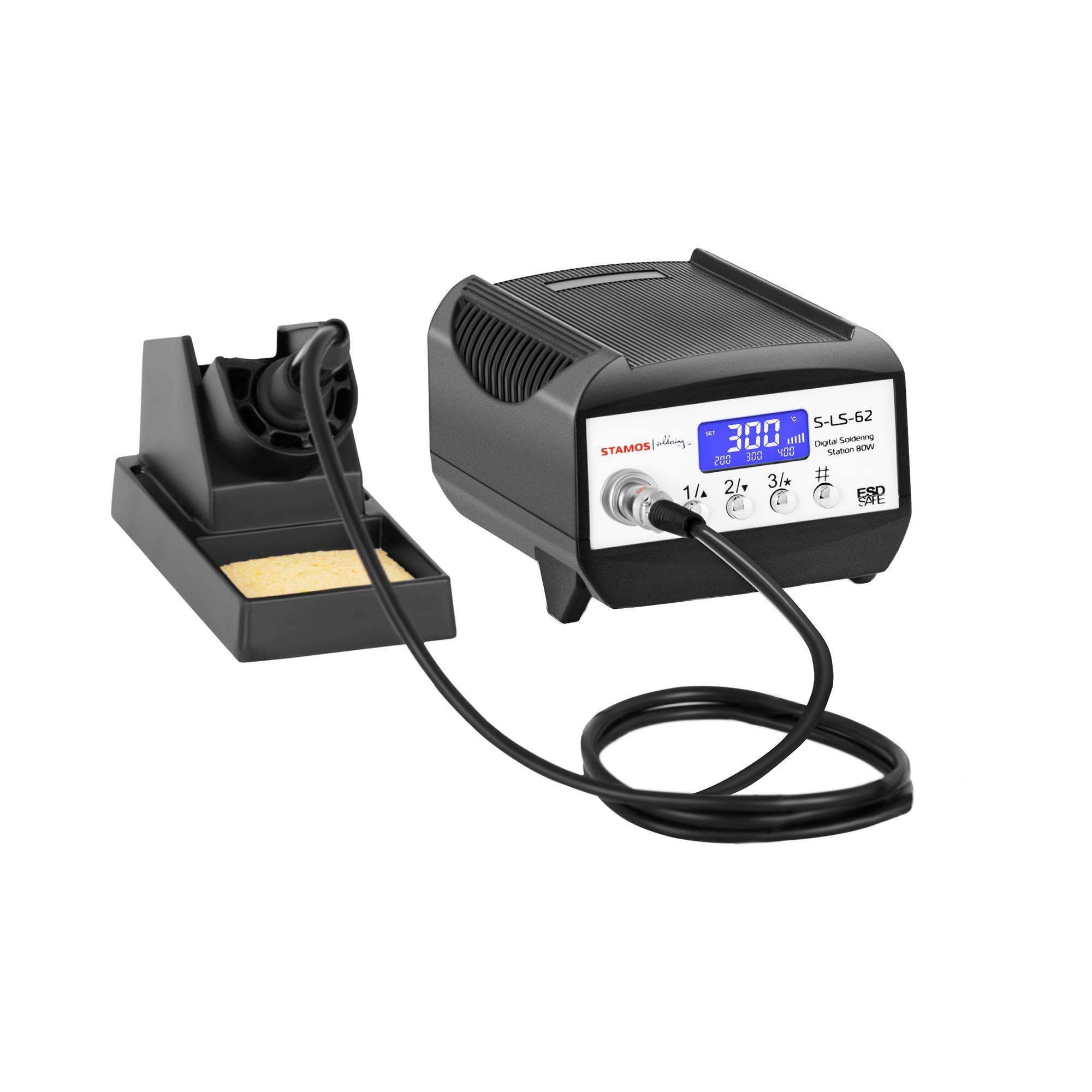 Stamos Soldering Loddestation - digital - 80 W - LCD S-LS-62