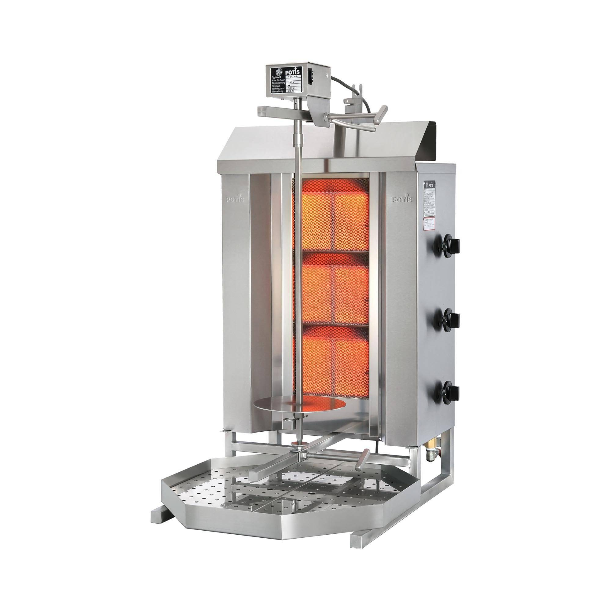 POTIS Dönergrill - 8.400 W - propan/butan GD3-S LPG