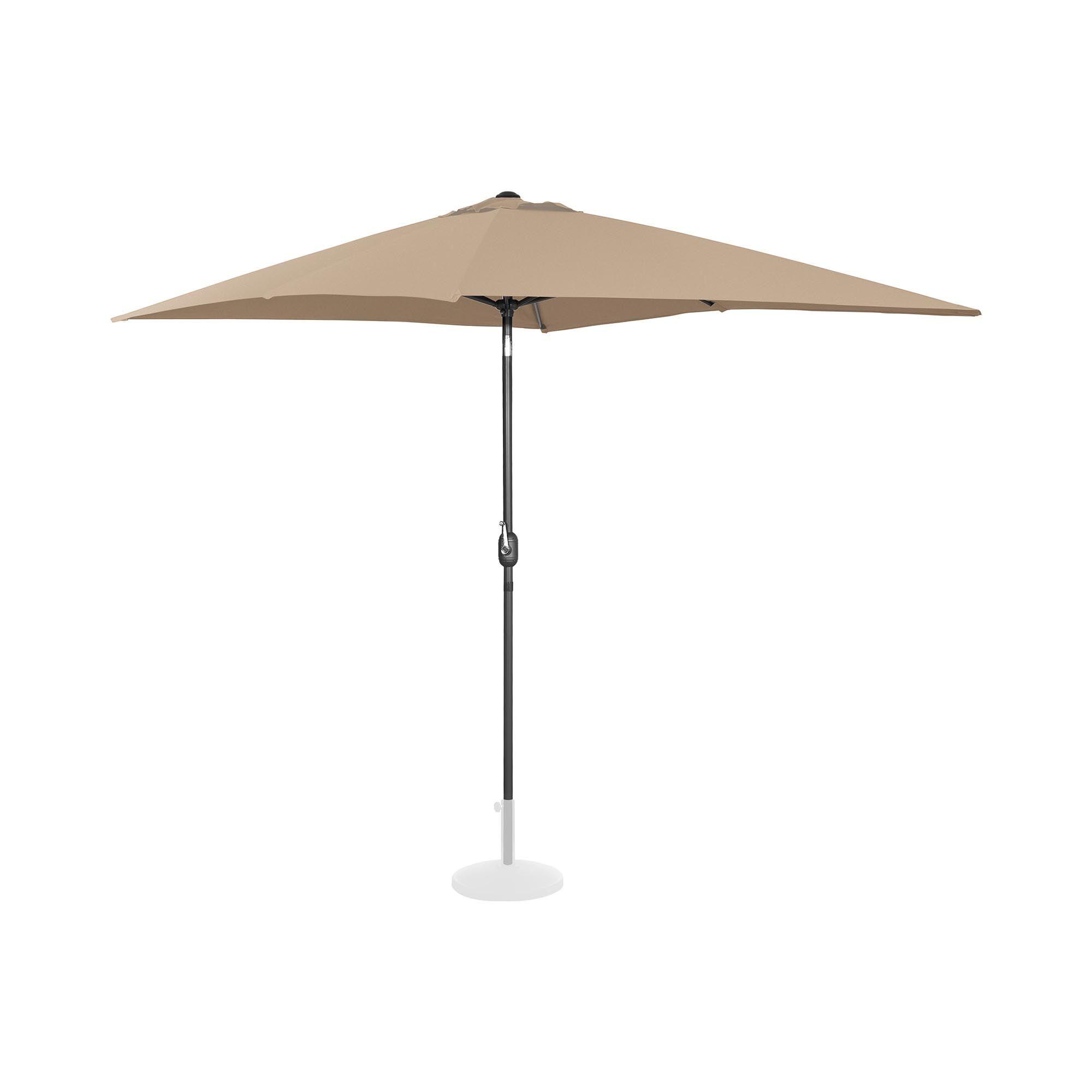 Uniprodo Parasol - taupe - rektangulær - 200 x 300 cm - knæk-position UNI_UMBRELLA_TSQ2030TA