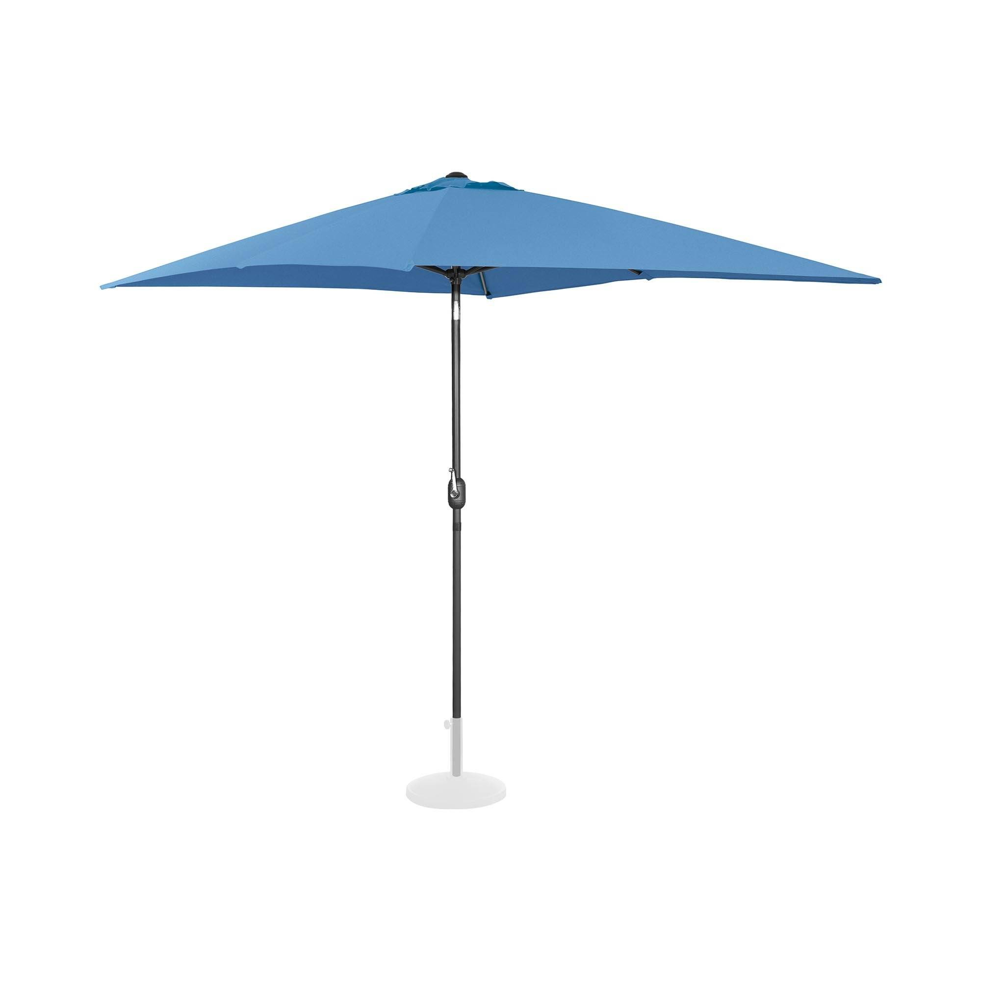 Uniprodo Parasol - blå - rektangulær - 200 x 300 cm - knæk-position UNI_UMBRELLA_TSQ2030BL
