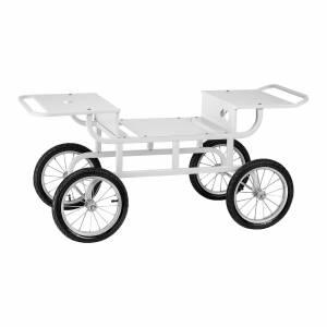 Royal Catering Vogn til candyflossmaskine - 4 hjul - hvid