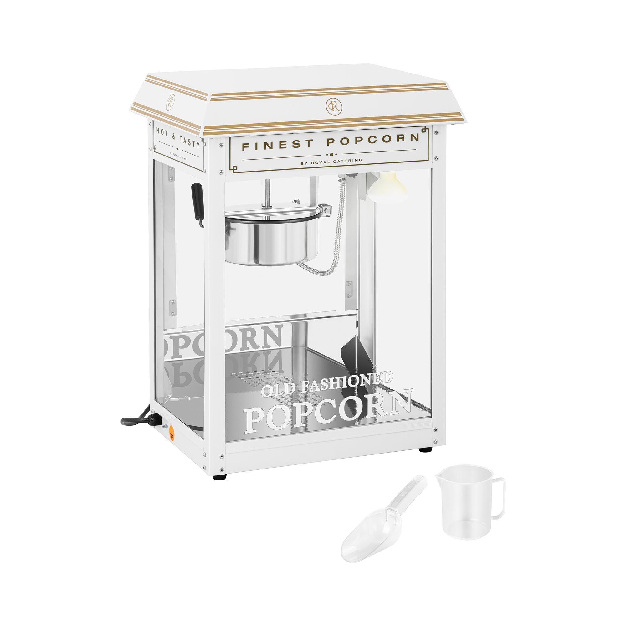 Royal Catering Popcornmaskine - hvid og guld RCPS-WG1