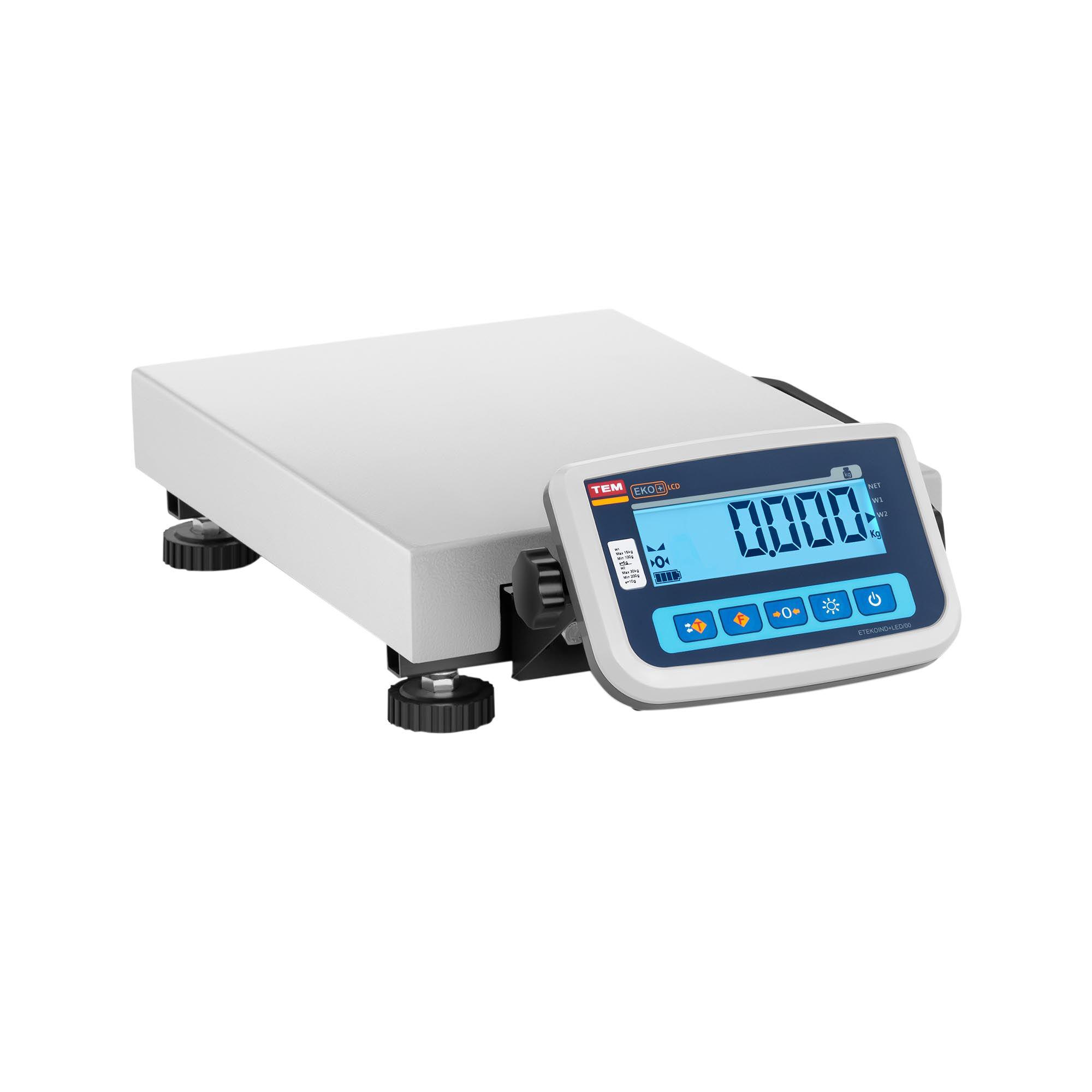 TEM Pakkevægt - certificeret - 30 kg / 10 g BEK+C030X040030-F-B1