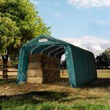 TOOLPORT Læskur 3,3x6,0m PVC 720 g/m² mørkegrøn 100 % vandtæt mørkegrøn