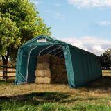 TOOLPORT Læskur 3,3x9,6m PVC 550 g/m² mørkegrøn 100 % vandtæt mørkegrøn