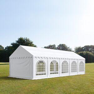 TOOLPORT Partytelt 4x10m PVC 500 g/m² hvid 100 % vandtæt Gartenzelt, Festzelt, Pavillon hvid