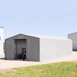 TOOLPORT Telthal 8x16m PVC 720 g/m² grå 100 % vandtæt Industriezelt grå