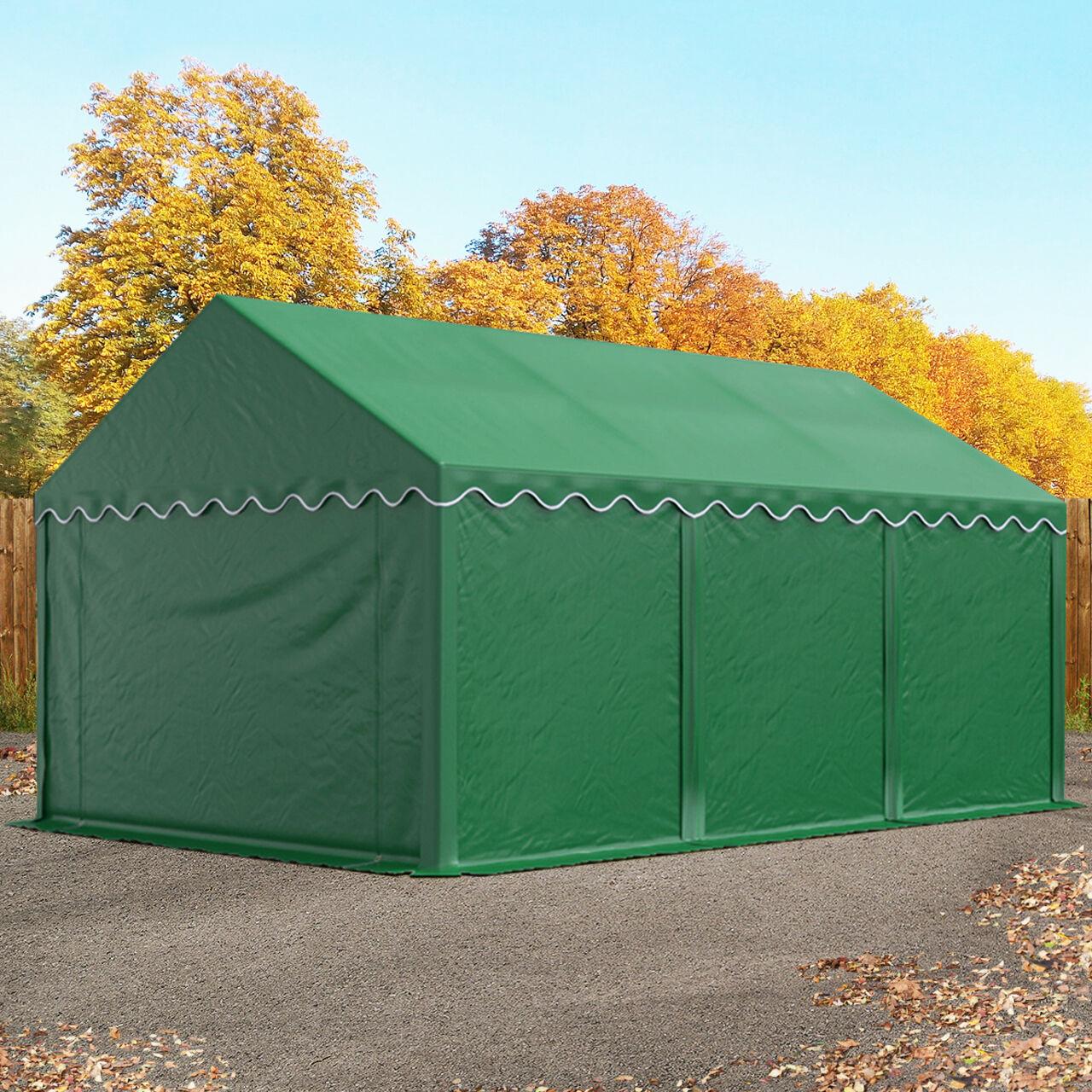 TOOLPORT Lagertelt 3x6m PVC 500 g/m² mørkegrøn 100 % vandtæt Unterstand, Lager mørkegrøn