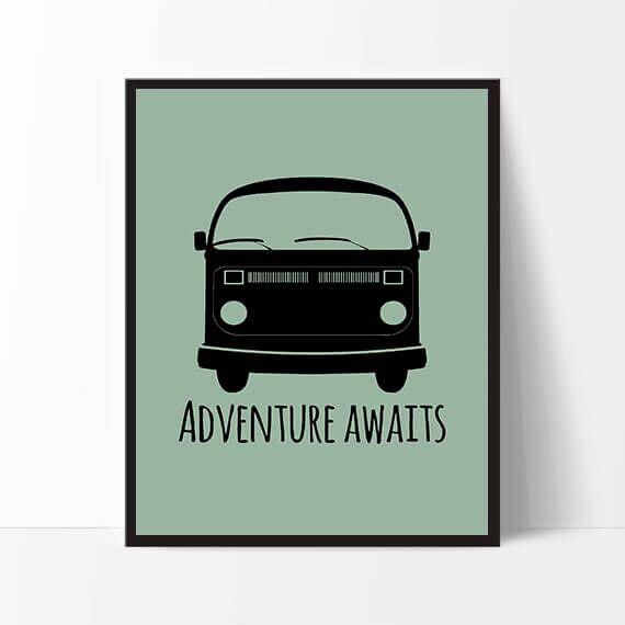 Mit Dejlige Hjem - Plakat A4 - Adventure - Grøn