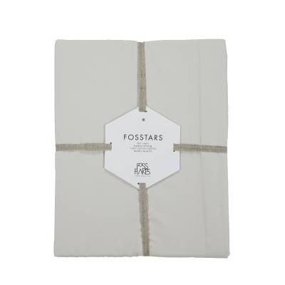 Fossflakes Betræk Til Fossflakes Comfort I Pude, Sandfarvet Bomulds Satin, Økologisk