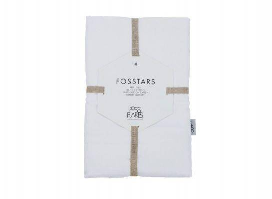 Fossflakes Betræk Til Fossflakes Knæ-Ankel Pude, Hvid Bomulds Satin, Økologisk