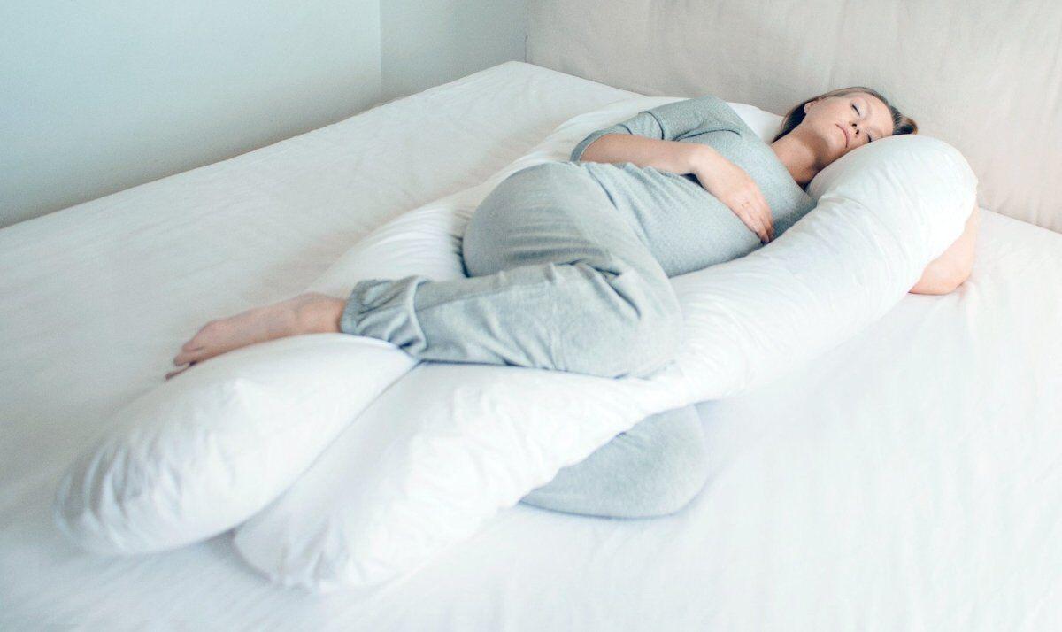 Fossflakes Comfort U Graviditetspude Inkl. Hvidt Betræk (Snow)