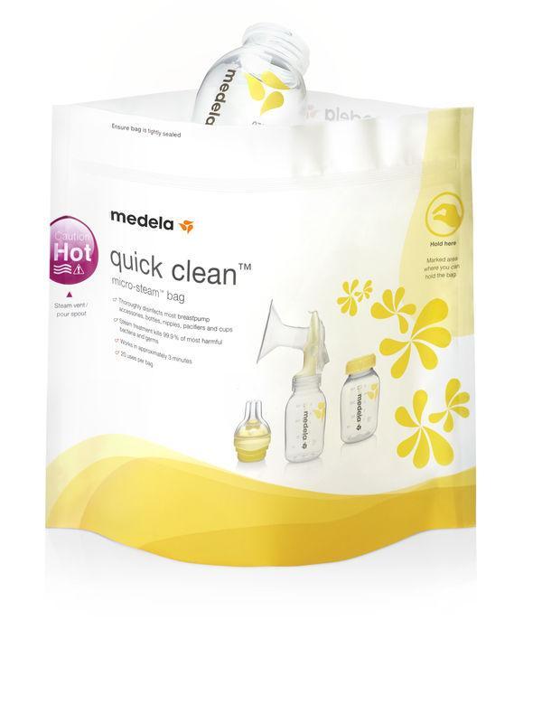 Medela Quick Clean Sterilisationsposer Til Mikroovn, 5 Stk., Medela