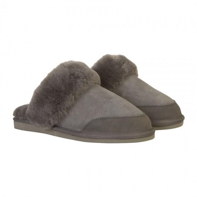 New Zealand Boots Hjemmesko/slippers I Lammeskind/lammeuld, Mørkegrå, New Zealand Boots