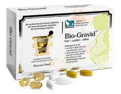 Pharmanord Bio-Gravid, Multivitamin Til Vordende Mødre, 180 Stk. (3*60), Pharmanord
