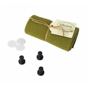 By Magnet | Reenbergs Strikkede håndklæder i øko-tex bomuld - Mørk oliven