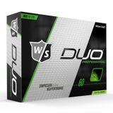 Wilson Duo Professional Golfbold - 12 Stk. - Neon Grøn