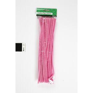 No-Name Chenille Piberensere   6 Mm   Pink   50 Stk.