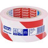 Tesa Markeringstape   Perm   66mm X 50m   Rød/hvid