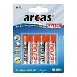 Arcas Aa Genopladelige 2700mah 4 Stk.