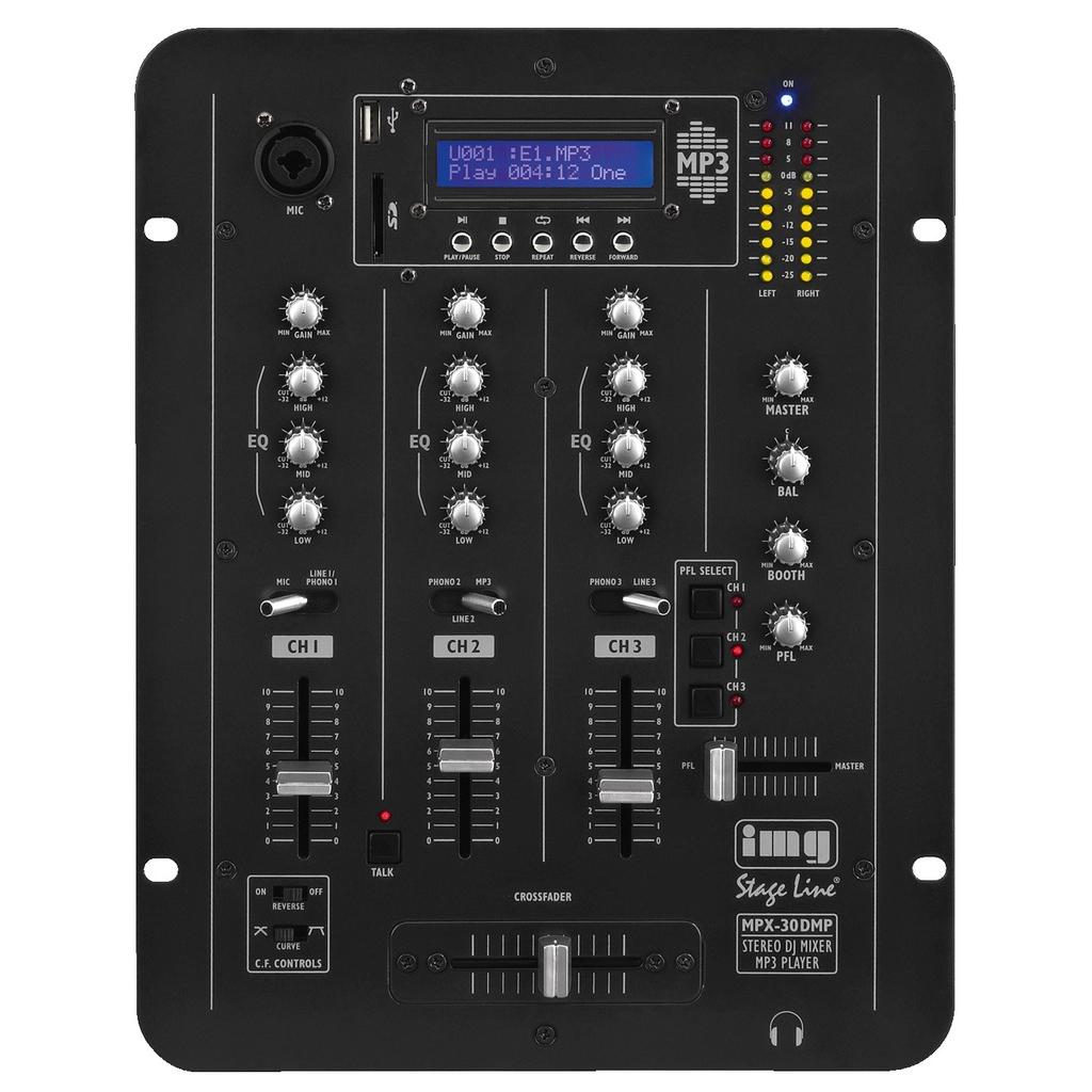 MONACOR Mixer M/mp3-Afspiller - Mpx-30dmp