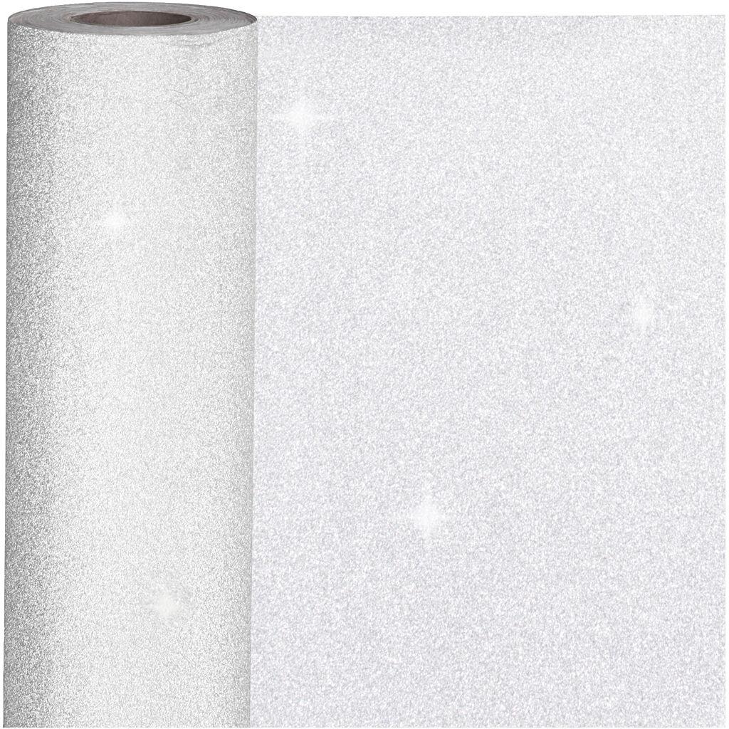 Creativ Company Gavepapir, B: 50 Cm, 80 G, Sølv, 100 M/ 1 Rl.