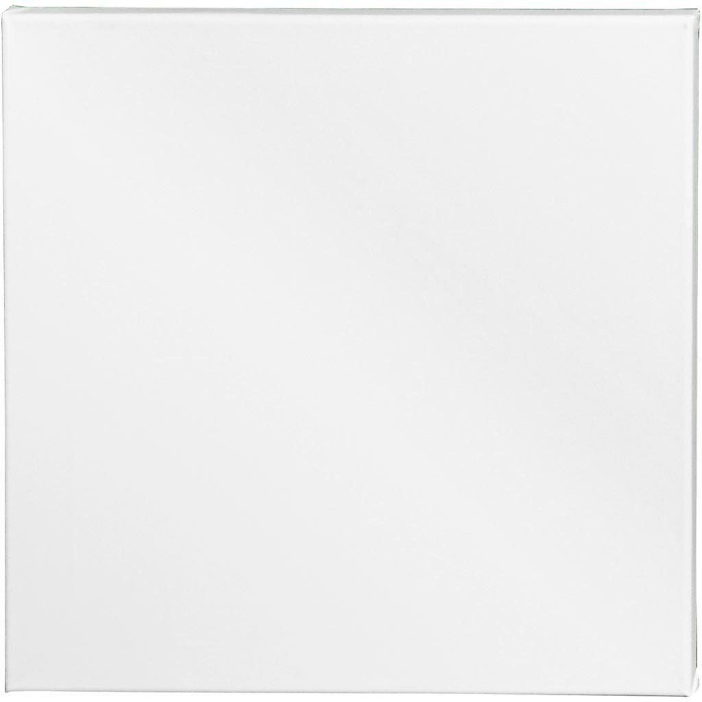 Creativ Company Artistline Canvas, Dybde 1,6 Cm, Str. 40x40 Cm, 360 G, Hvid, 10 Stk./ 1 Pk.