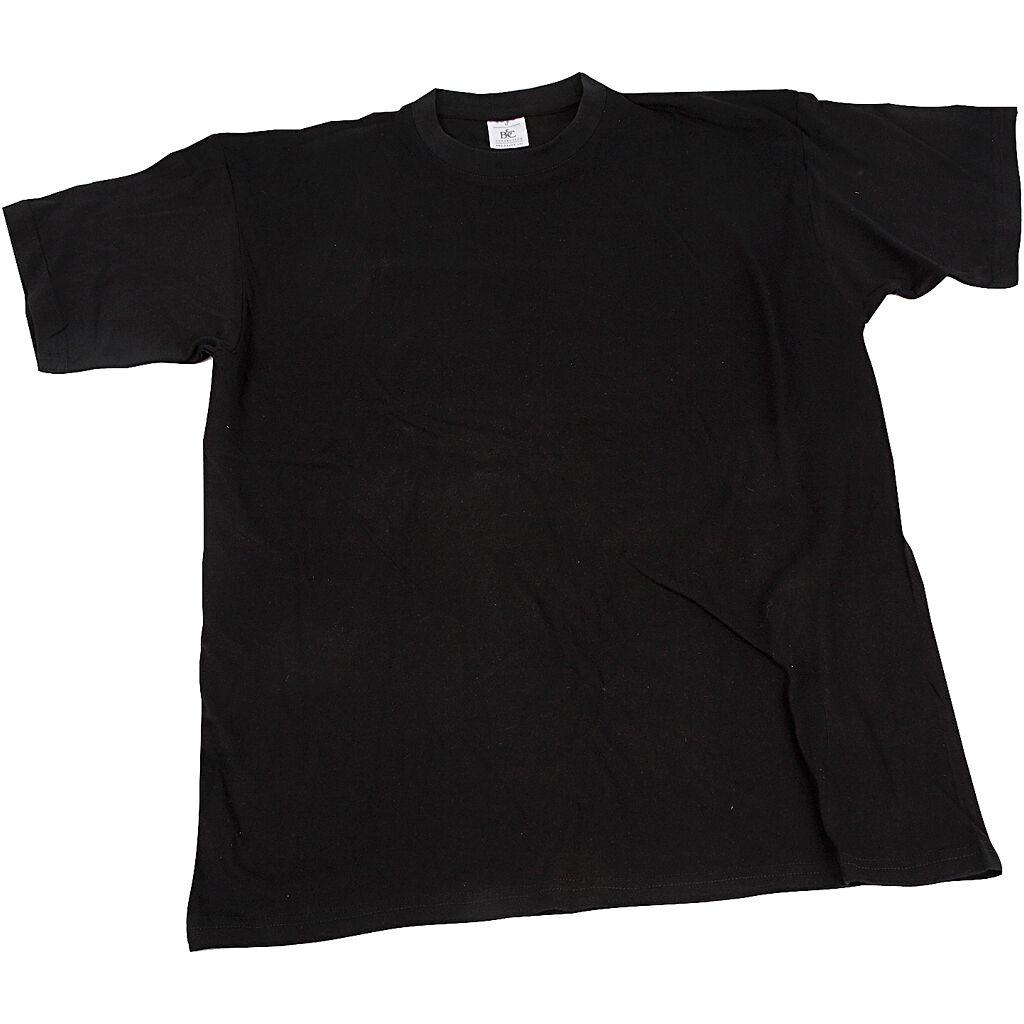 Creativ Company T-Shirt, B: 32 Cm, Str. 3-4 År, Rund Hals, Sort, 1 Stk.