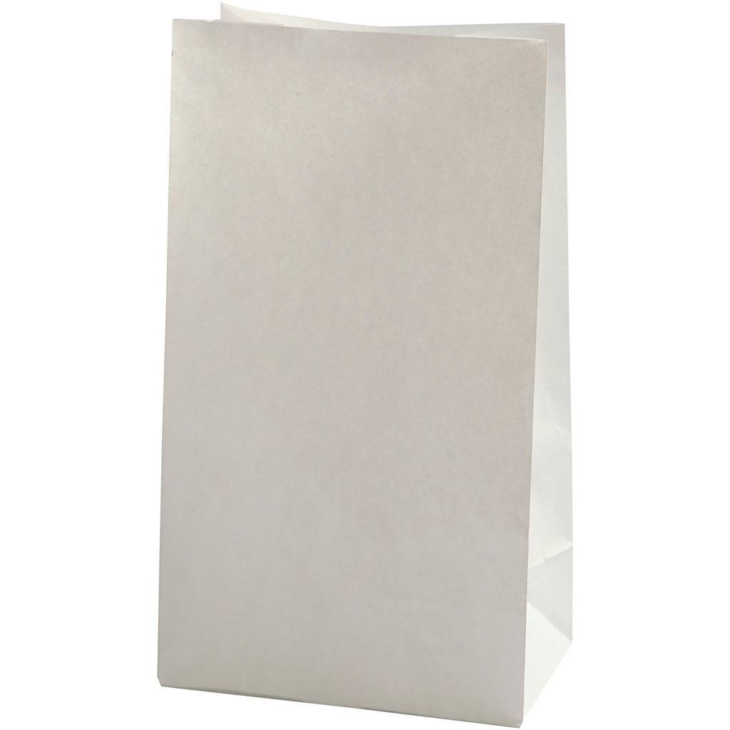 Creativ Company Papirposer, Str. 15x9x27 Cm, 46 G, Hvid, 100 Stk./ 1 Pk.