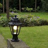 QAZQA Country udendørs lanterne base sort IP44 - Anna