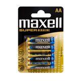 Maxell Aa Super Alkaline Batterier, Pakke Med 4 Stk.