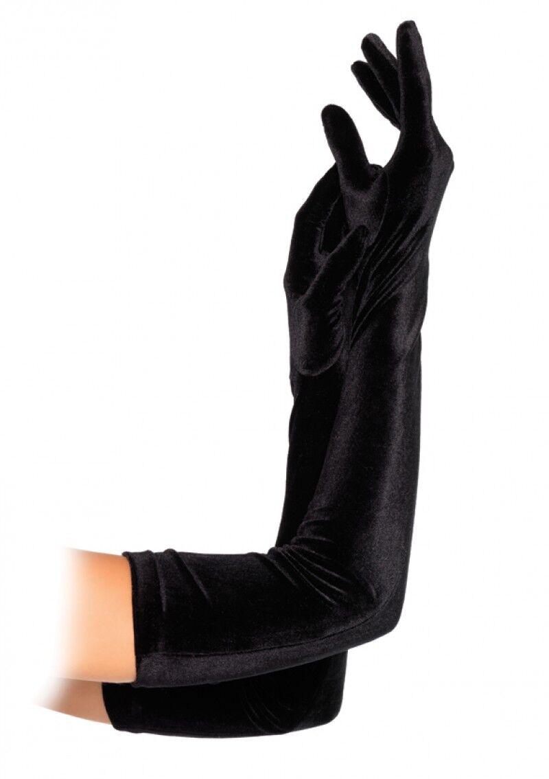 Leg Avenue Velvet Opera Length Gloves